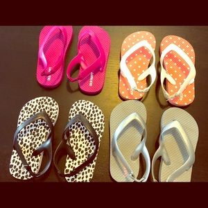 NWOT Flip flop DIFF colors Size 8 for Toddler GIRL